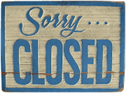 Bild: sorry closed